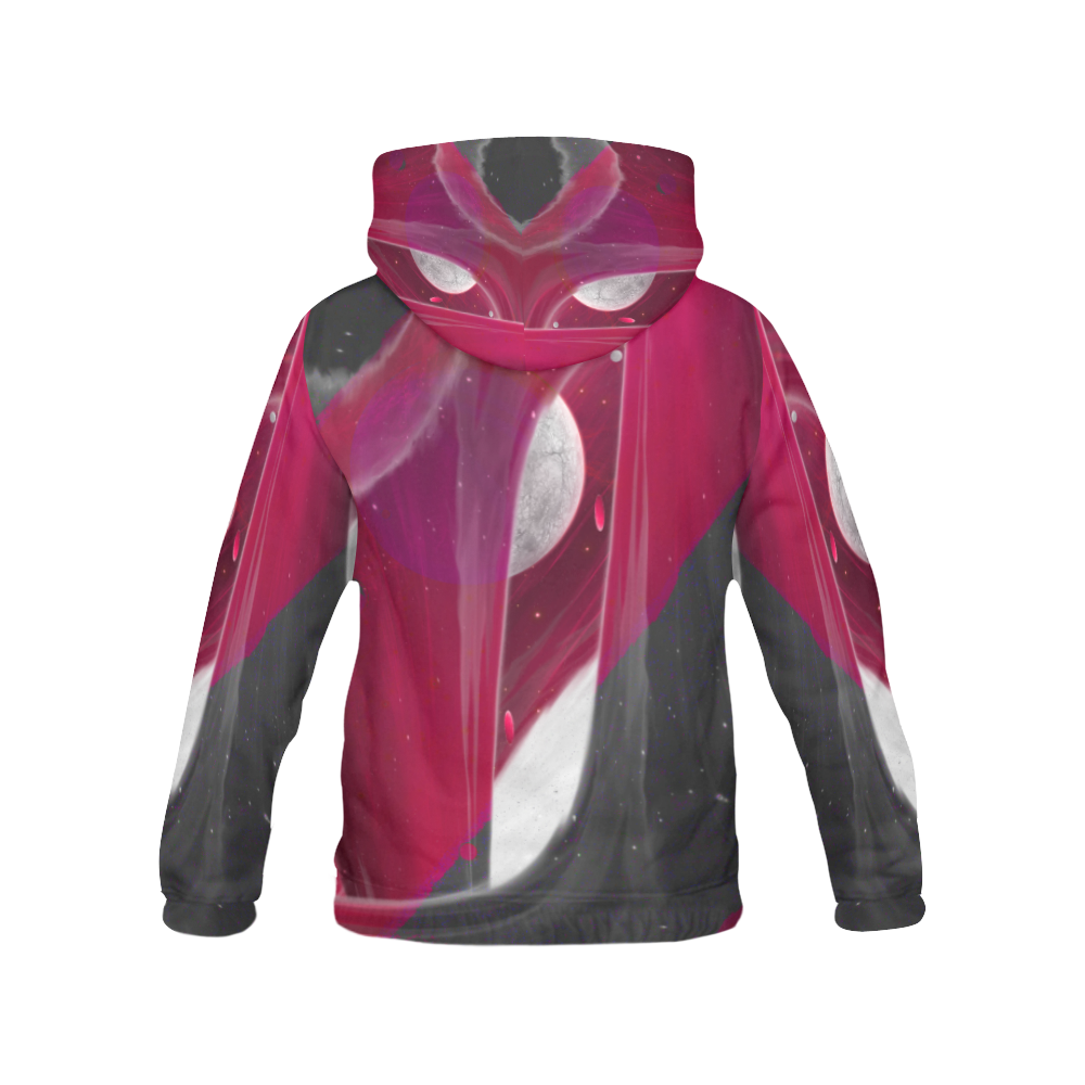 Maroon Night Wear Crew Unit All Over Print Hoodie (for Women)