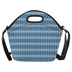 Oval Mod Blue Neoprene Lunch Bag/Large (Model 1669)