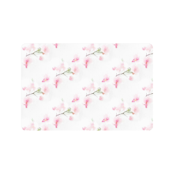"""Pattern Orchidées Doormat 24"""" x 16"""""""