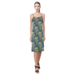 Yellow irises Alcestis Slip Dress (Model D05)