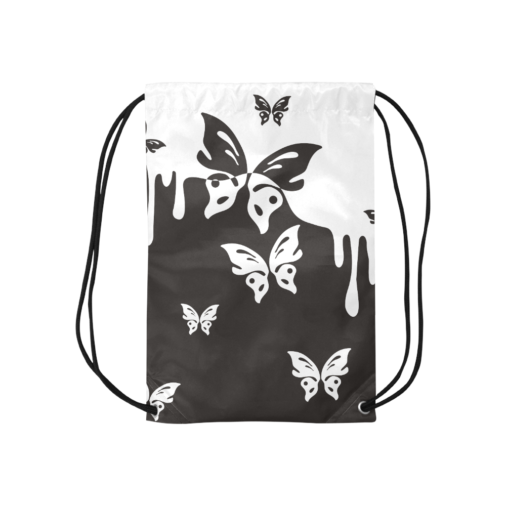 """Animals Nature - Splashes Tattoos with Butterflies Small Drawstring Bag Model 1604 (Twin Sides) 11""""(W) * 17.7""""(H)"""