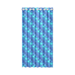 """Blue shades abstract New Window Curtain 50"""" x 96""""(One Piece)"""
