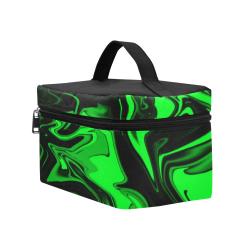 Dark Pastel Green Cosmetic Bag/Large (Model 1658)