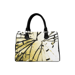 Shattered Yellow. Boston Handbag (Model 1621)