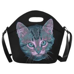 Kitten Love Neoprene Lunch Bag/Large (Model 1669)