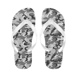 Woodland Urban City Black/Gray Camouflage Flip Flops for Men/Women (Model 040)