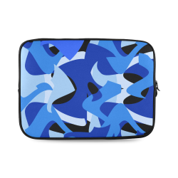 Camouflage Abstract Blue and Black Custom Laptop Sleeve 14''