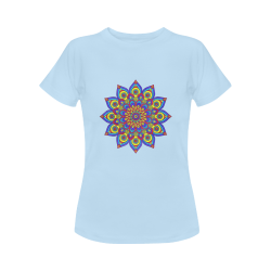 Brilliant Star Mandala Blue Women's Classic T-Shirt (Model T17)