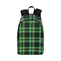 stripes sea green Fabric Backpack for Adult (Model 1659)