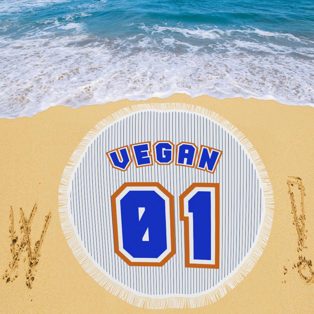 """No. 1 Vegan Circular Beach Shawl 59""""x 59"""""""
