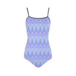 Winter Chevrons Strap Swimsuit ( Model S05)