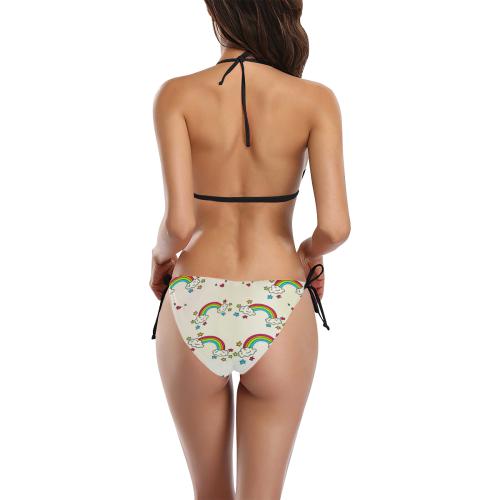 Rainbows Buckle Front Halter Bikini Swimsuit (Model S08)