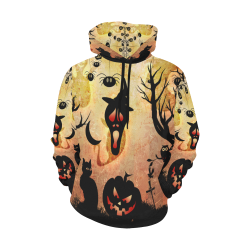 Funny halloween design All Over Print Hoodie for Men (USA Size) (Model H13)