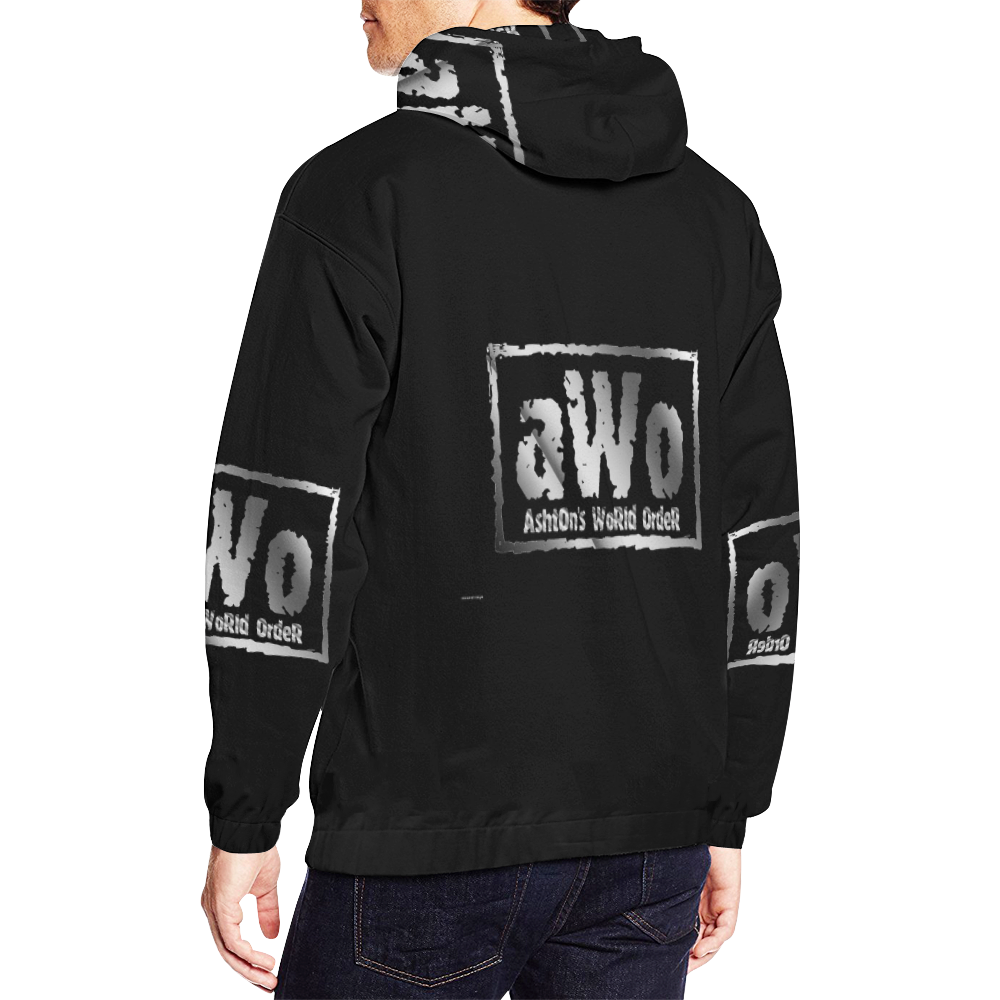 AWO All Over Print Hoodie for Men/Large Size (USA Size) (Model H13)