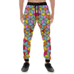 Karo by Nico Bielow Men's All Over Print Sweatpants (Model L11)