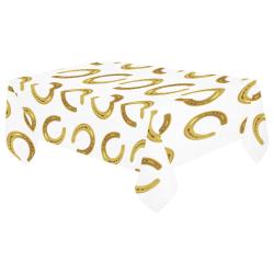 "Golden horseshoe Cotton Linen Tablecloth 60""x 104"""