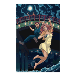 "On The List Love Scene Ginnie Pulling Eddie Off The Bridge Poster Poster 23""x36"""