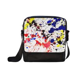 Blue & Red Paint Splatter Crossbody Nylon Bags (Model 1633)