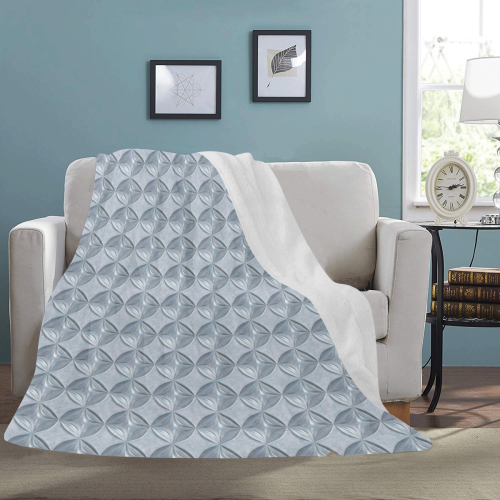 Glass pattern on a marble background Ultra-Soft Micro Fleece Blanket 54''x70''