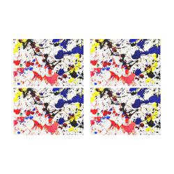 Blue & Red Paint Splatter Placemat 12'' x 18'' (Four Pieces)