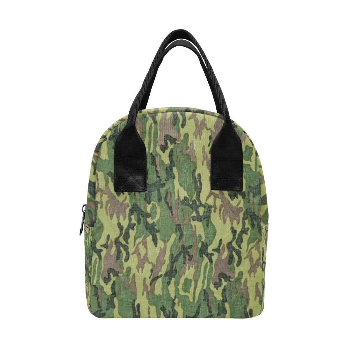 Military Camo Green Woodland Camouflage Zipper Lunch Bag (Model 1689)