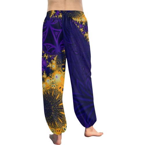 Twilight Jungle Leaves Women's All Over Print Harem Pants (Model L18)