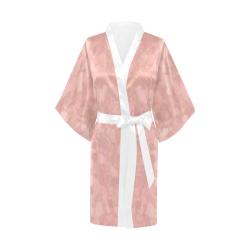 Retro Splash Peach Kimono Robe