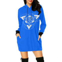Women's Outer Realm Apparel Logo Dress Hoodie All Over Print Hoodie Mini Dress (Model H27)