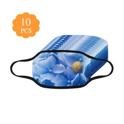 Snail & Hydrangea Flowers Mouth Mask (Pack of 10)