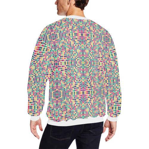 dots large Men's Oversized Fleece Crew Sweatshirt (Model H18)