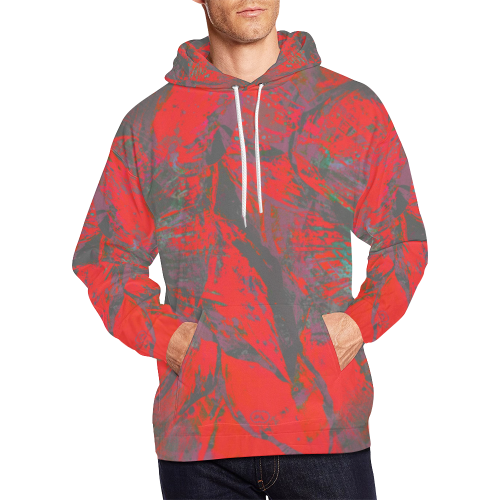Juicy Maroon Dirty Night Wear Crew All Over Print Hoodie (for Men)