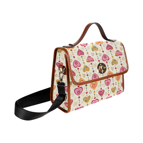 color heart vector free Waterproof Canvas Bag/All Over Print (Model 1641)