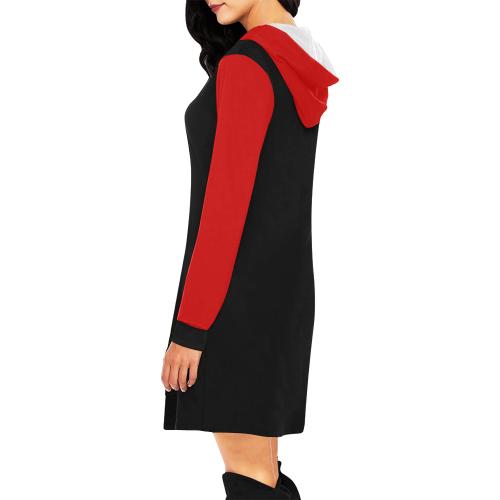 Harley Quinn All Over Print Hoodie Mini Dress (Model H27)