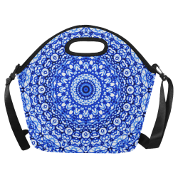 Blue Mandala Mehndi Style G403 Neoprene Lunch Bag/Large (Model 1669)