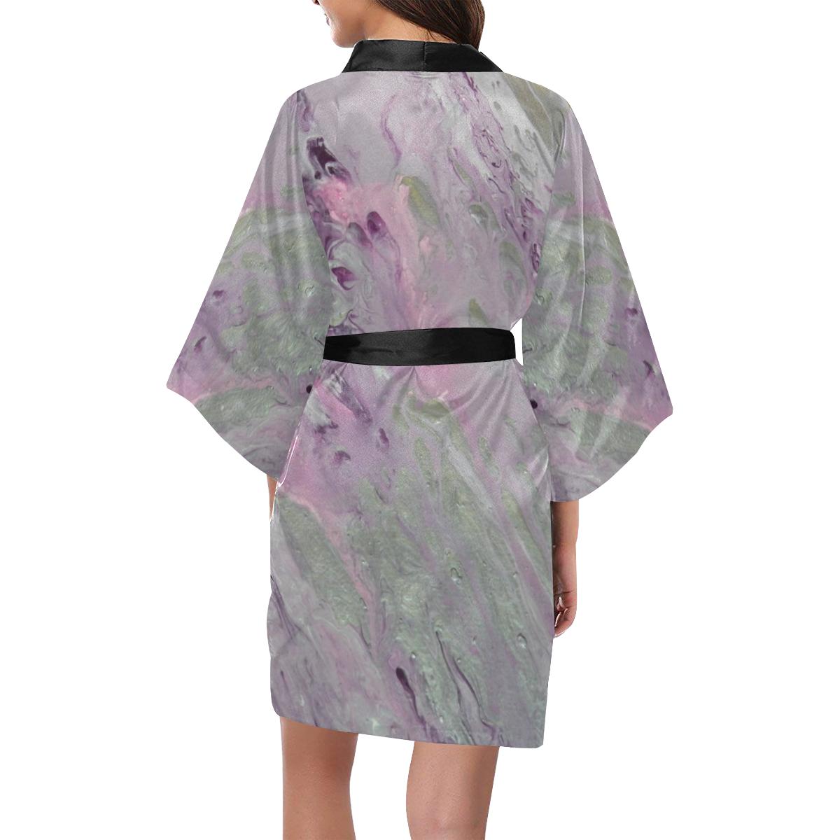 Rose Coloured Star Dust Kimono Robe