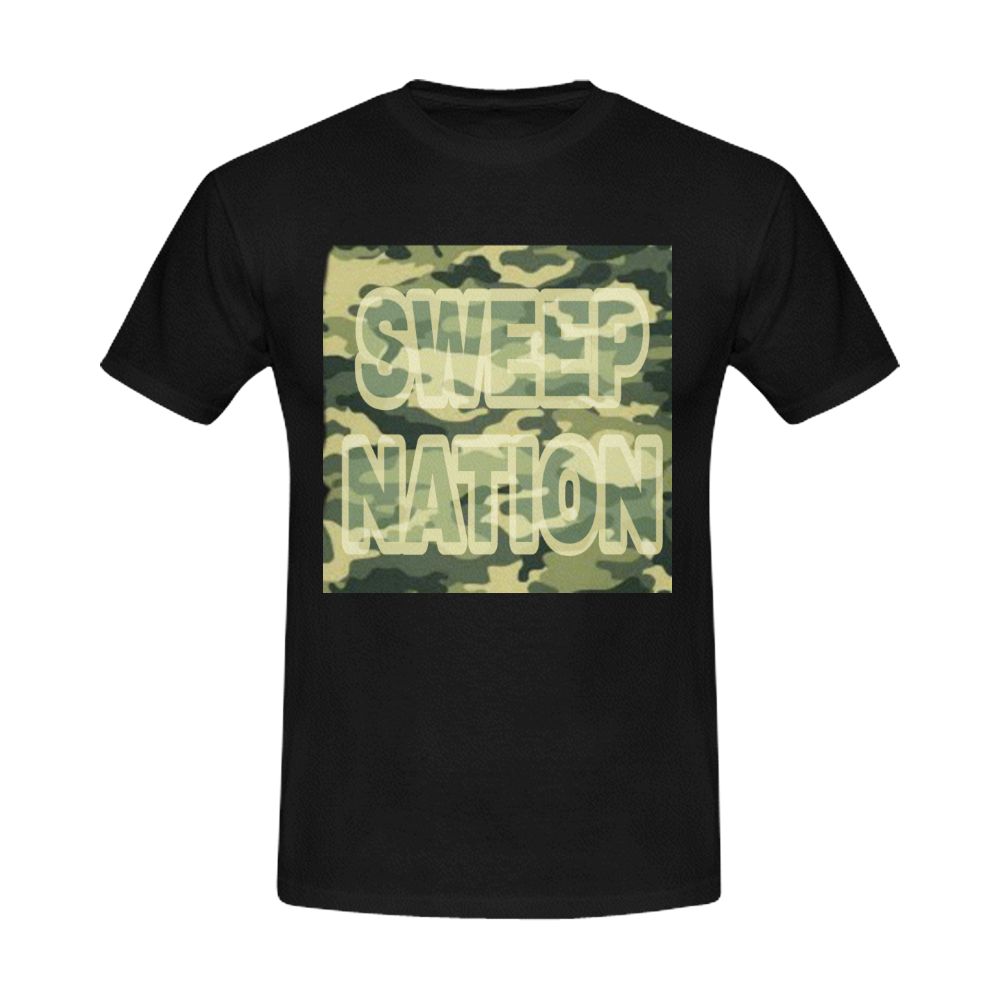 Sweep Nation - army Men's Slim Fit T-shirt (Model T13)