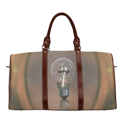 Light bulb with birds Waterproof Travel Bag/Large (Model 1639)