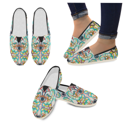 Graffiti-ojos-2 Casual Shoes for Women (Model 004)