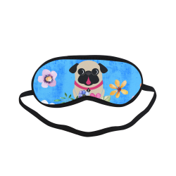 Fawn Pug Flowers Sleeping Mask