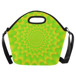 Green spiral Neoprene Lunch Bag/Large (Model 1669)