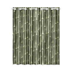 """Bamboo forest New Window Curtain 52"""" x 63""""(One Piece)"""