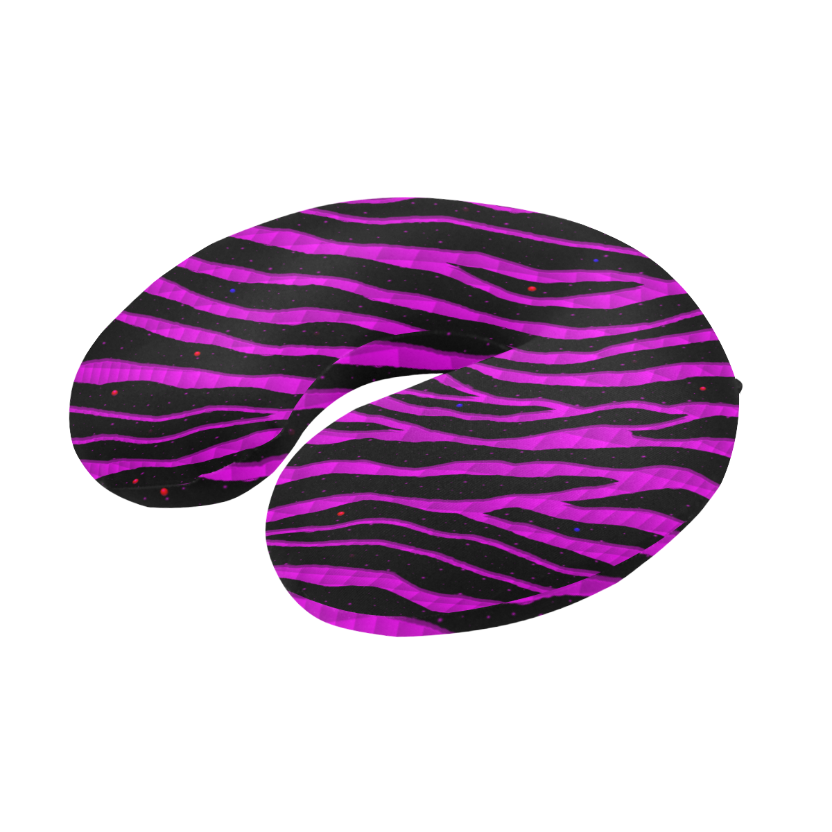 Ripped SpaceTime Stripes - Pink U-Shape Travel Pillow