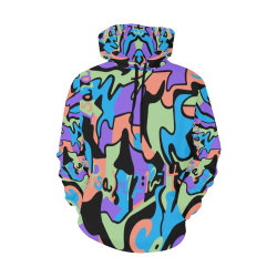 Seen_Hoodie_Men Larger Sized All Over Print Hoodie for Men/Large Size (USA Size) (Model H13)