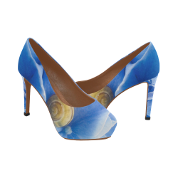 Snail & Hydrangea Flowers Women's High Heels (Model 044)