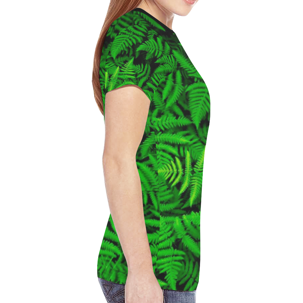greenleafs New All Over Print T-shirt for Women (Model T45)