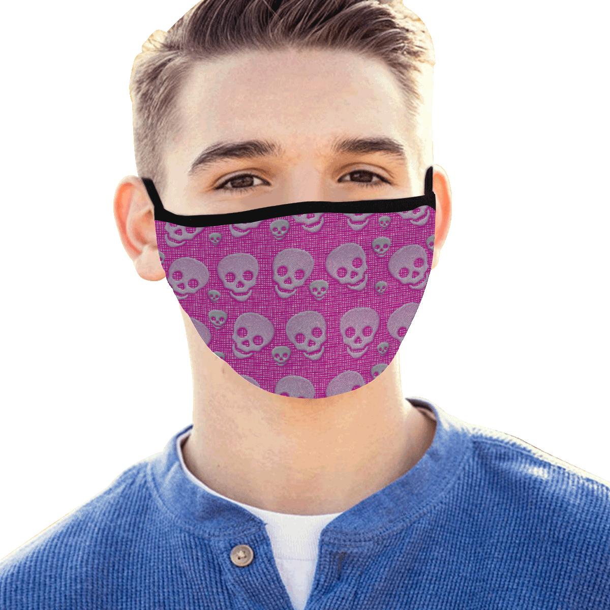 SKULLS PINK MASK Mouth Mask