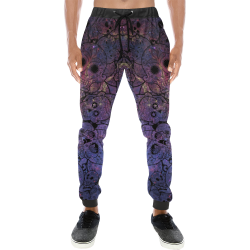 Cosmic Sugar Skulls Men's All Over Print Sweatpants (Model L11)
