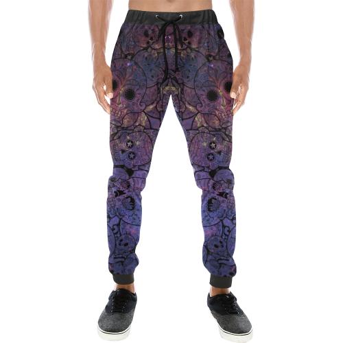 Cosmic Sugar Skulls Men's All Over Print Sweatpants (Model L11)