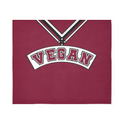 "Vegan Cheerleader Cotton Linen Wall Tapestry 60""x 51"""