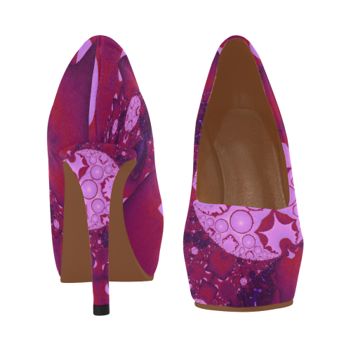 Planetary Bubble Gum Women's High Heels (Model 044)